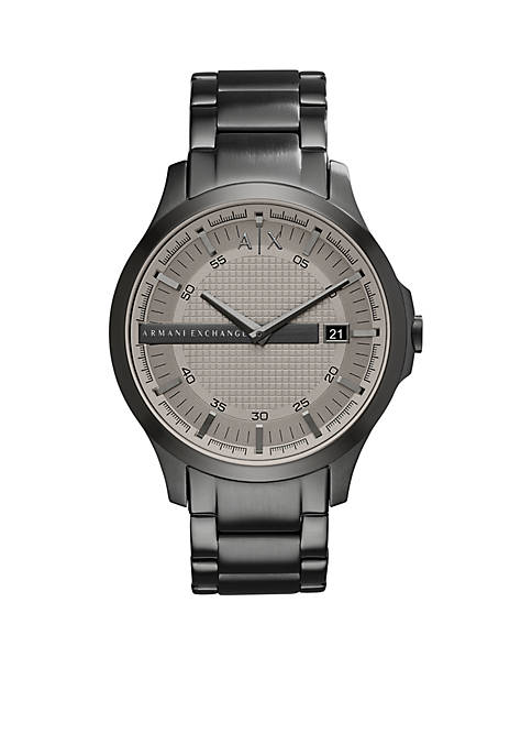 Armani Exchange AX Mens Hampton Three-Hand-Date Stainless Steel