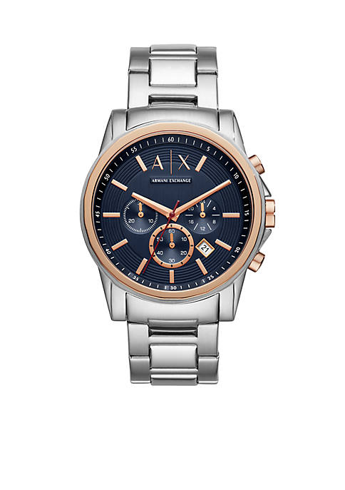 Armani Exchange AX Stainless Steel AIX H-link Bracelet