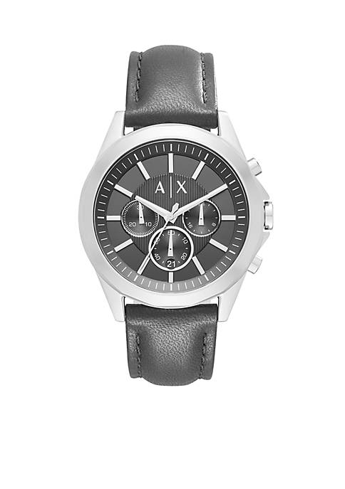 Armani Exchange AX Mens Drexler Chronograph Leather Strap