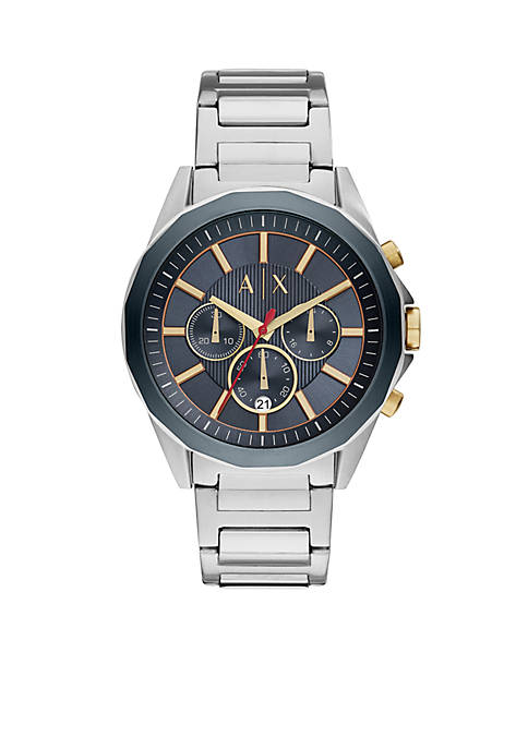 Armani Exchange AX Mens Drexler Silver Chronograph Watch