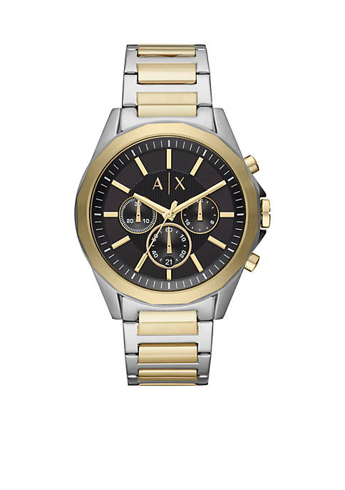 Mens Two-Tone Stainless Steel Chronograph Watch