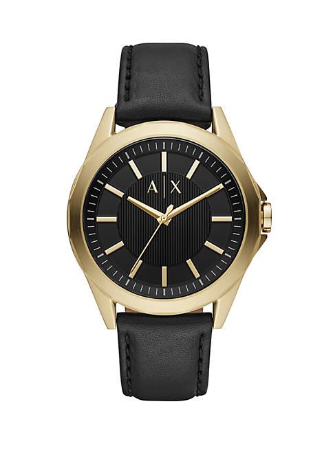 Armani Exchange AX AIX Mens 3 Hand Black