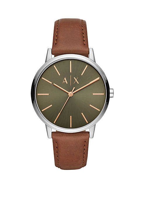 Armani Exchange AX AIX Mens CAYDE 3-Hand Brown