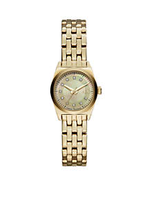 Women's Gold-Tone Stainless Steel 3 Hand Watch