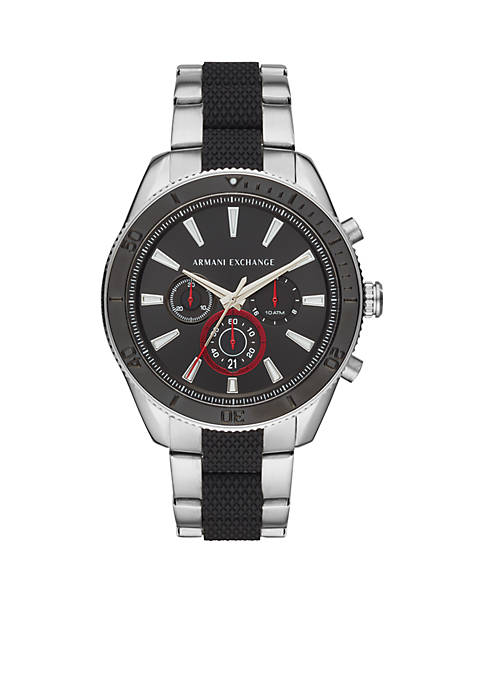 Armani Exchange AX Mens Chronograph Two-Tone Stainless Steel