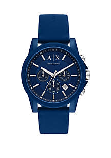 Chronograph Blue Silicone Watch