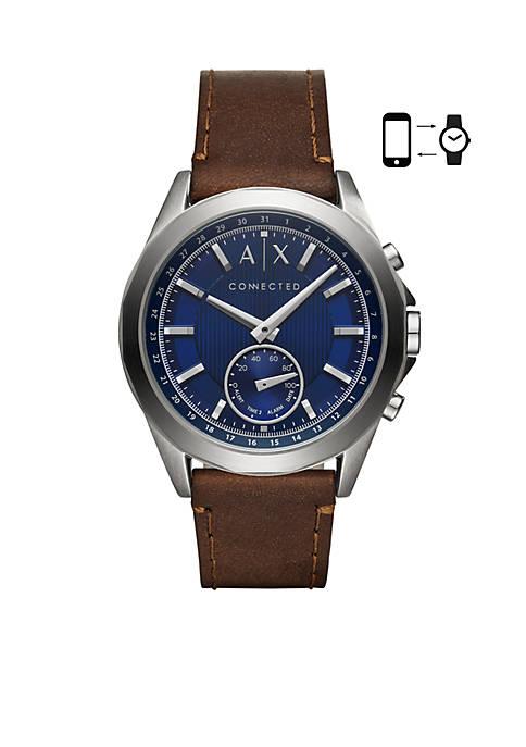 Armani Exchange AX Mens Drexler Hybrid Leather Smartwatch