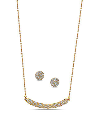 Nina Angelee Swarovski Necklace And Earring Set