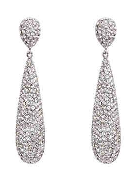 9f45f11833e Nina Swarovski Elongated Pave Teardrop Earrings