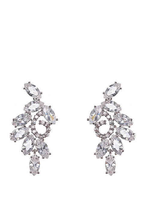 Nina Cubic Zirconia Branch Stud Earrings
