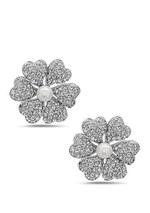 Pluma Pearl Flower Earrings