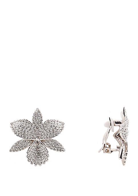 Renee Sparkling Swarovski Orchid Earrings