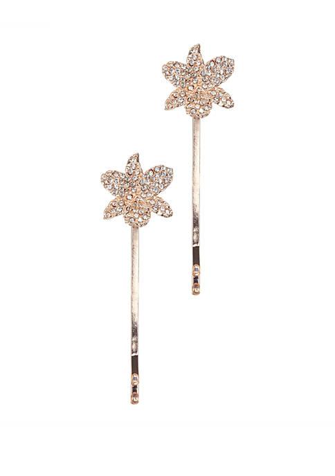 Nina Orchid Bobby Pins Set of 2