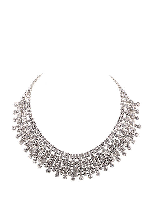 Nina Crystal Cup Chain Drama Necklace