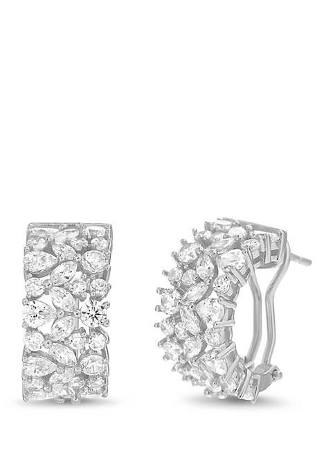 Belk Silverworks Wide Hoop Earrings