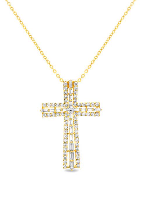Cubic Zirconia Cross Necklace