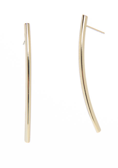 Curved Bar Earrings