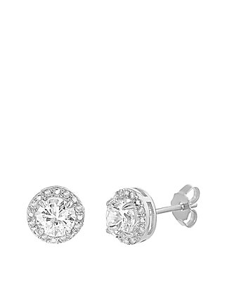 f188ab847 Belk Silverworks. Belk Silverworks Sterling Silver Lab Created White  Sapphire Diamond Earrings