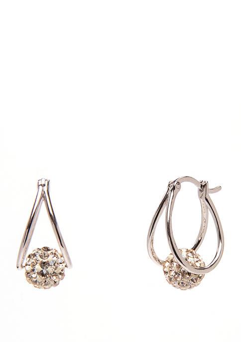 Belk Silverworks Sterling Silver Champagne Swarovski Crystal