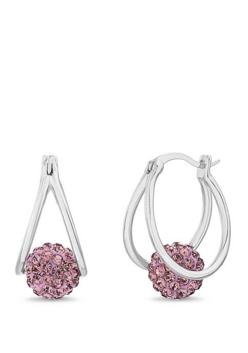 Belk Silverworks Sterling Silver Lavender Swarovski® Crystal