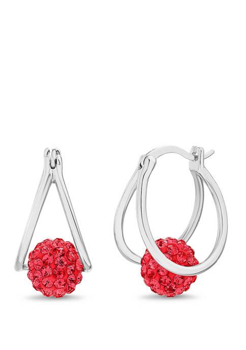 Belk Silverworks Sterling Silver Red Swarovski® Crystal
