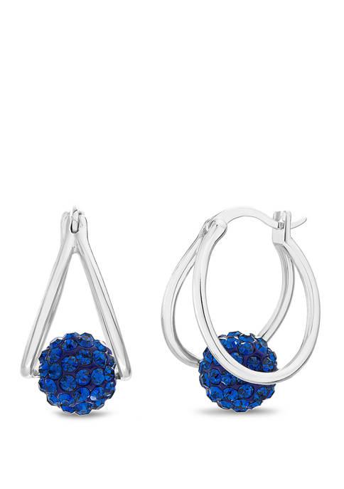 Belk Silverworks Sterling Silver Sapphire Blue Swarovski®