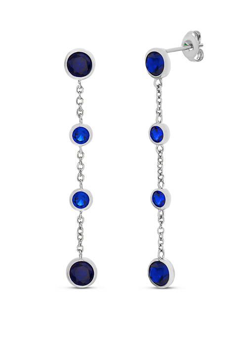 Belk Silverworks Sterling Silver Lab Created Dangle Earrings