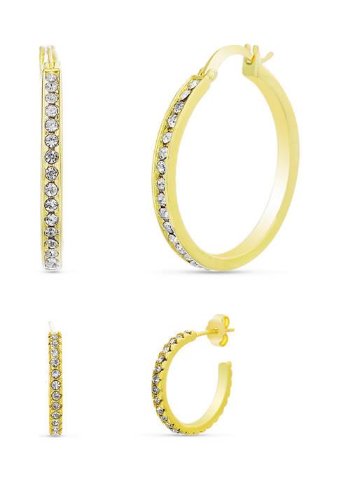 Belk Silverworks Fine Gold Plated 1.65 Swarovski® Crystal