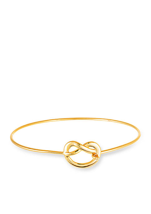 Belk Silverworks Gold-Tone Love Knot Bangle Bracelet