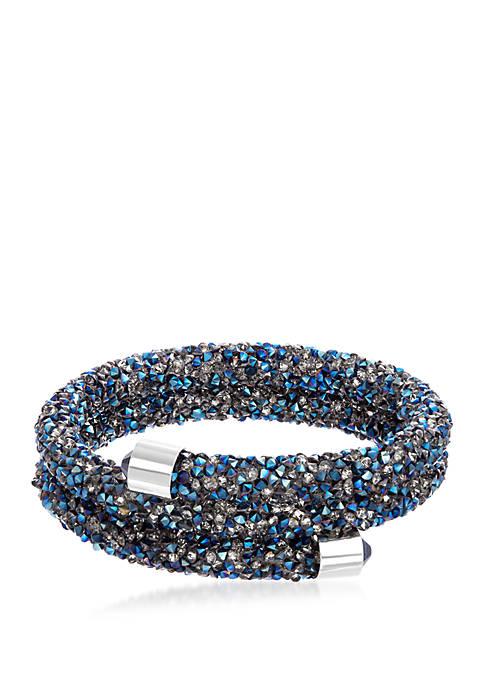 Fine Silver Plated Crystal Energy Wrap Bracelet with Swarovski® Crystal End Caps