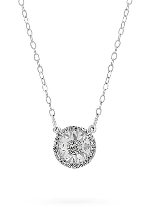 Belk Silverworks 1/10 ct Diamond Circle Pendant Necklace