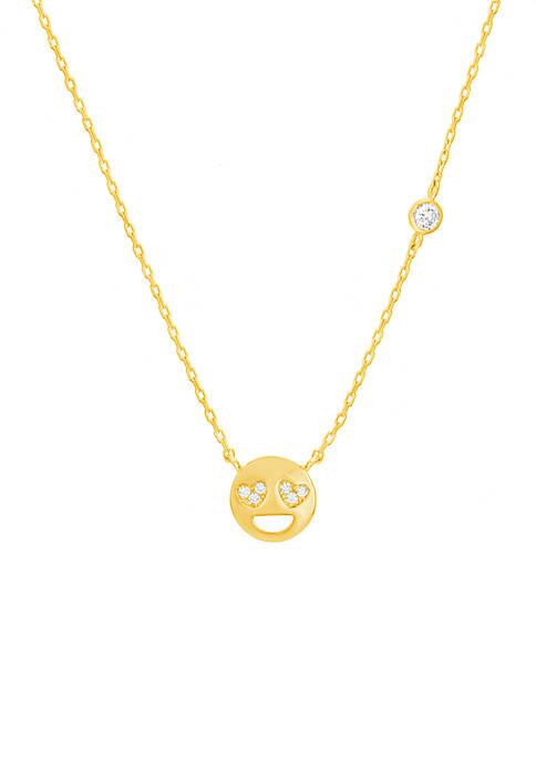 Belk Silverworks Gold Over Sterling Silver Emoji Love