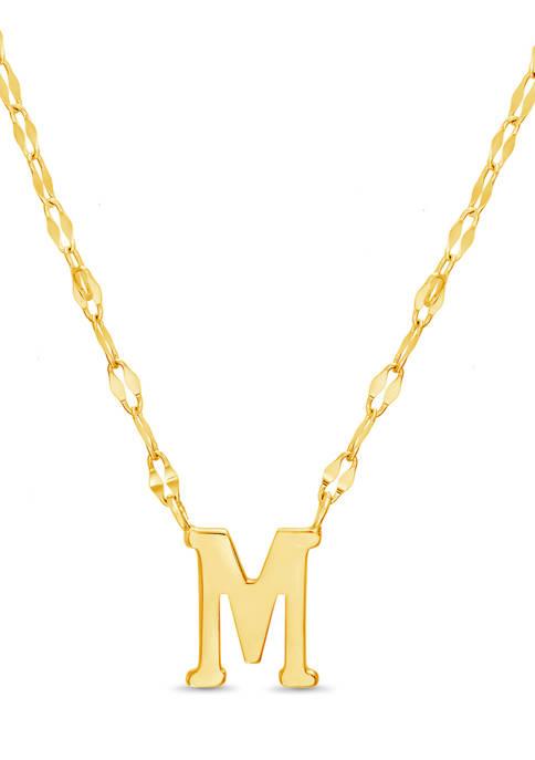 Belk Silverworks Gold Over Sterling Silver Initial M