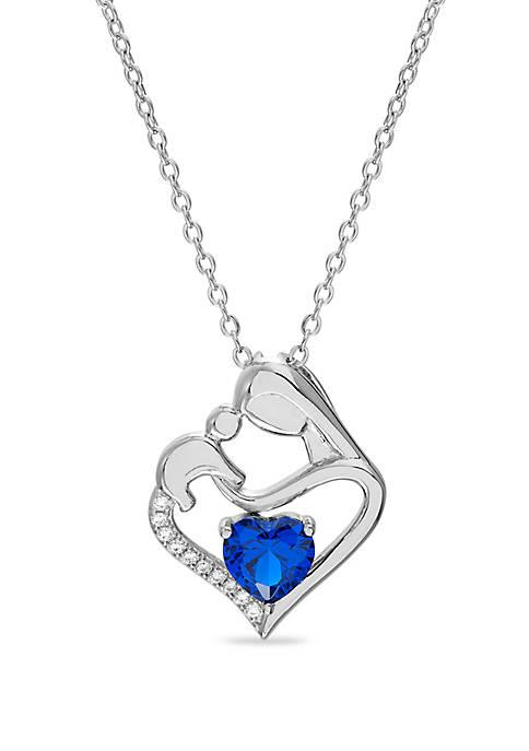 Belk Silverworks Sterling Silver Blue Sapphire & Cubic