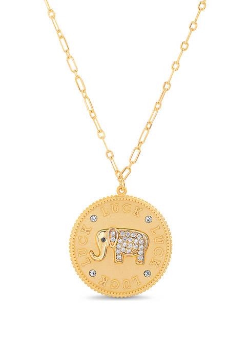 Belk Silverworks 14 Karat Gold Plated Cubic Zirconium