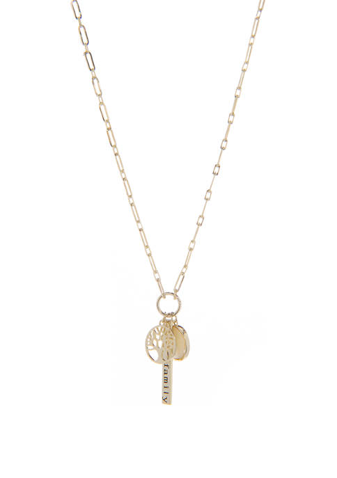 Belk Silverworks Family Tree Charm Necklace
