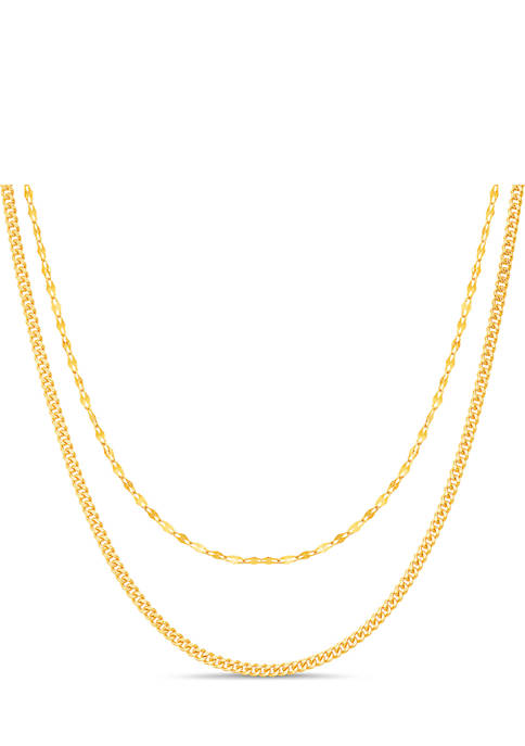 Belk Silverworks Duo Layered Chain Necklace
