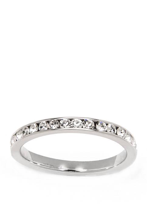 Belk Silverworks Silver Tone Eternity Band Ring
