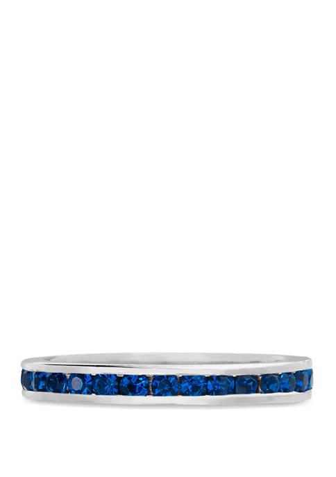 Belk Silverworks Sterling Silver Blue Swarovski® Crystal