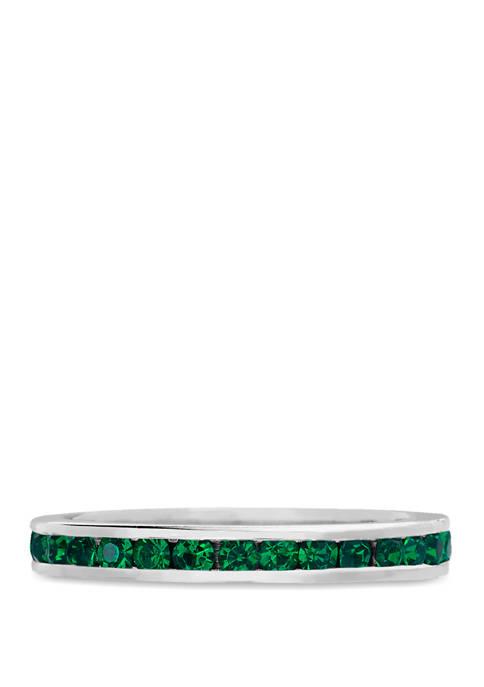 Belk Silverworks Sterling Silver Emerald Green Swarovski®