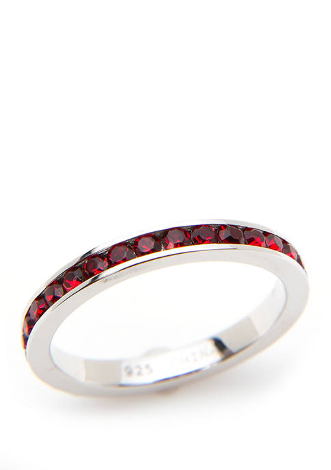 Belk Silverworks Sterling Silver Red Eternity Band Ring
