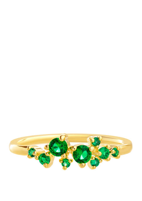 Gold Over Sterling Silver Lab Created Emerald Ring