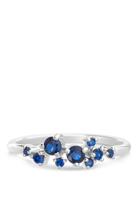 Belk Silverworks Sterling Silver Lab Created Sapphire Ring