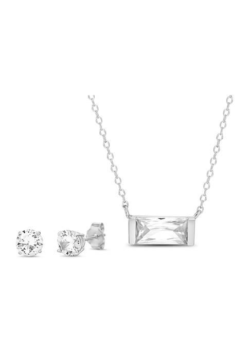 Belk Silverworks Sterling Silver 6 ct. t.w. Cubic