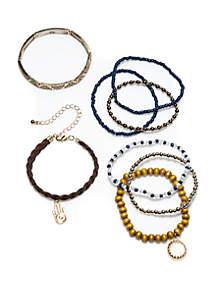 TRUE CRAFT Gold-Tone 7-Piece Bracelet Set