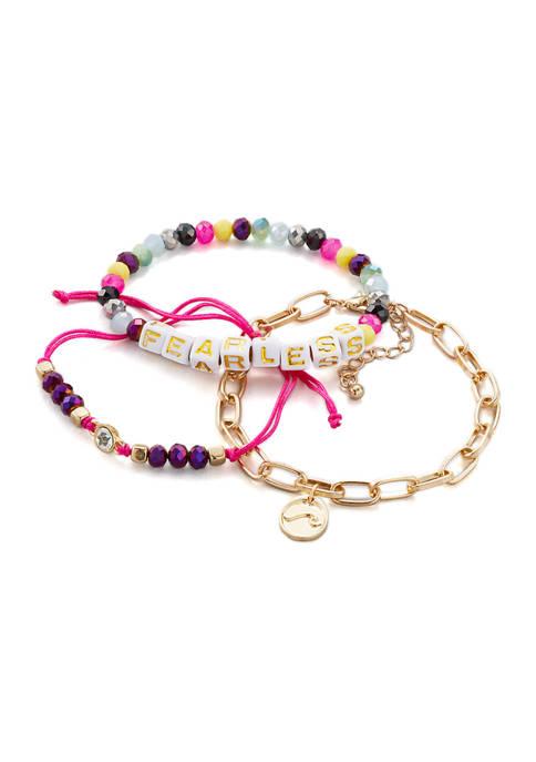 3-Piece Mixed Bracelet Set