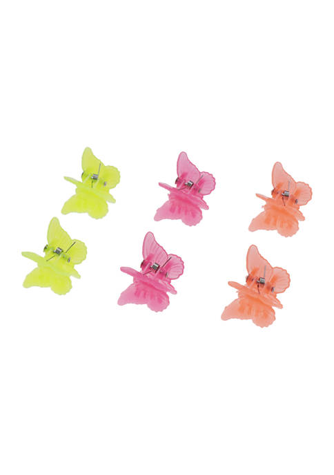 Set of 3 Jelly Butterfly Hair Clips