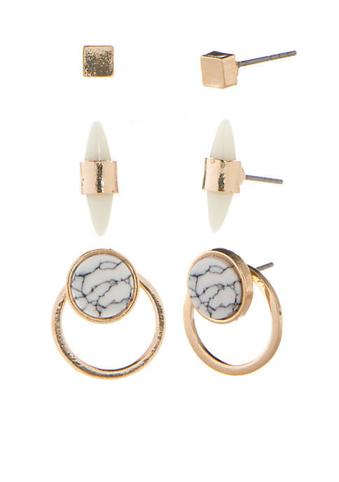 Gold-Tone Summer On The Ranch Earring Trio