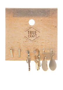 Gold-Tone Summer On The Ranch Trio Earring Set