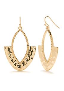 Gold-Tone Statement Earrings